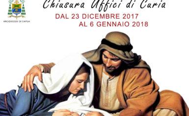 CHIUSURA UFFICI DI CURIA