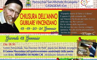 PARROCCHIA S. MICHELE ARCANGELO: CHIUSURA ANNO GIUBILARE VINCENZIANO