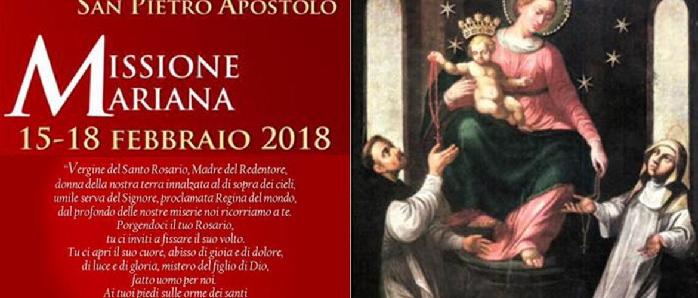 PARROCCHIA S. PIETRO APOSTOLO: MISSIONE MARIANA