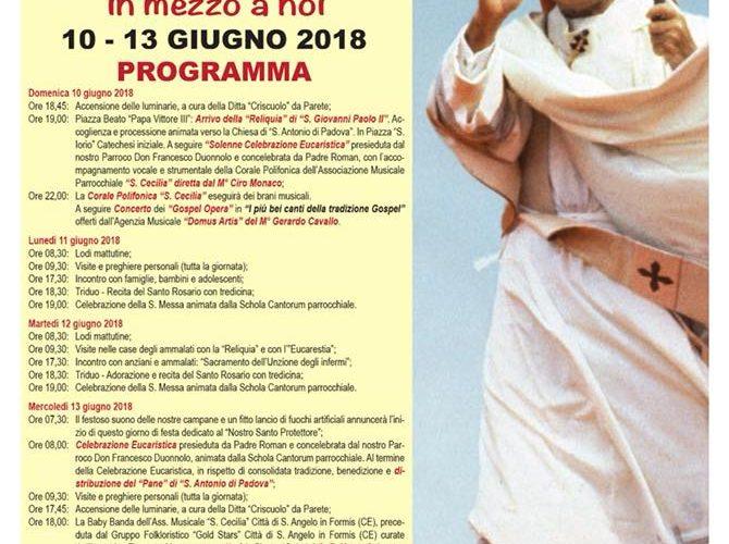 La Reliquia di San Giovanni Paolo II in mezzo a noi