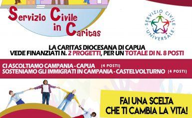 CARITAS DIOCESANA: Bando volontari servizio civile 2018 (CAPUA – CASTELVOLTUNO)