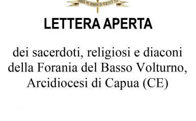 Lettera aperta dei sacerdoti, religiosi e diaconi della Forania del Basso Volturno