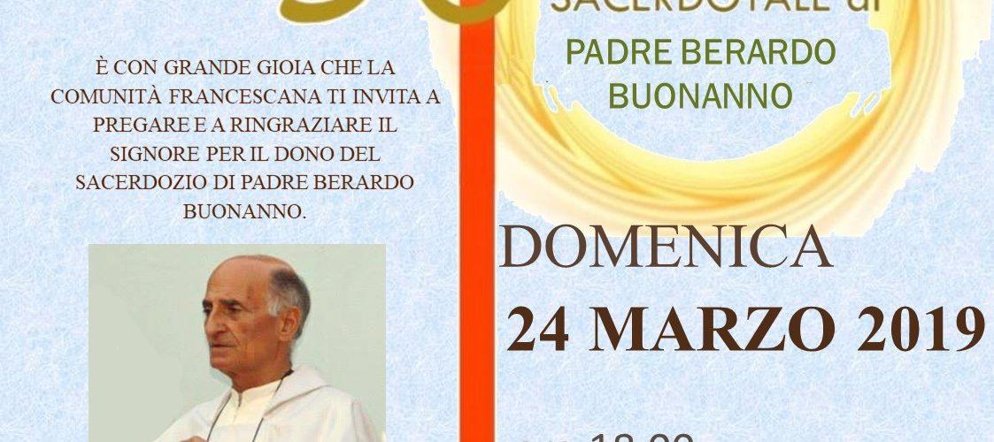 50esimo anniversario di ordinazione sacerdotale di Padre Berardo Buonanno