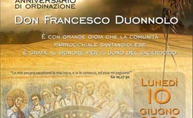 25esimo anniversario di ordinazione di don Francesco Duonnolo