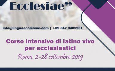 Lingua Ecclesiae – Corso intensivo di latino vivo per ecclesiastici