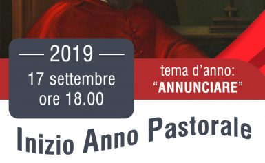 INIZIO ANNO PASTORALE 2019