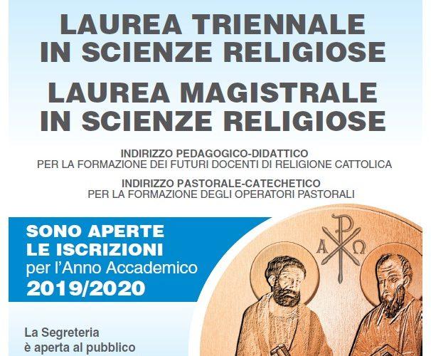 ISSR Comunicato apertura iscrizioni A.A. 2019/2020