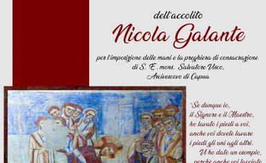 ORDINAZIONE DIACONALE DELL'ACCOLITO NICOLA GALANTE