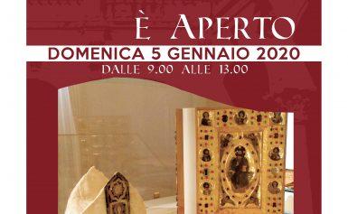 MUSEO SEZIONE EPISCOPIO APERTO DOMENICA 5 GENNAIO 2020