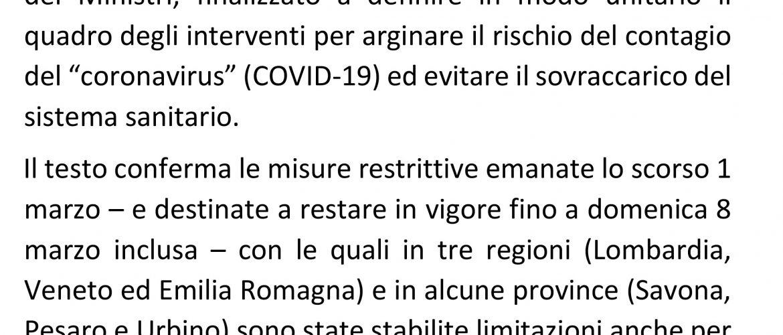 Comunicato stampa Coronavirus: la posizione della CEI